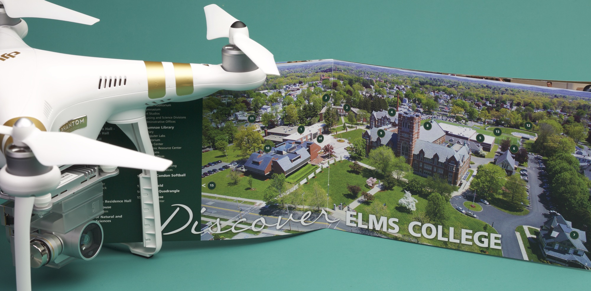 elms aerial photo with drone