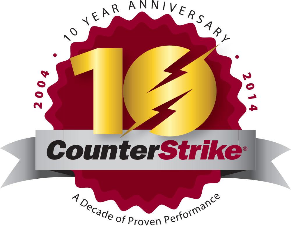 OmegaFlex CounterStrike 10yr logo